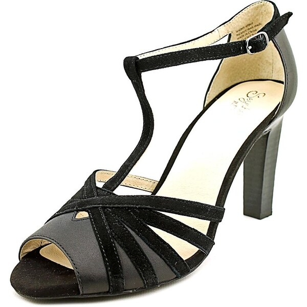 Seychelles Lap Women Open Toe Leather Black Sandals