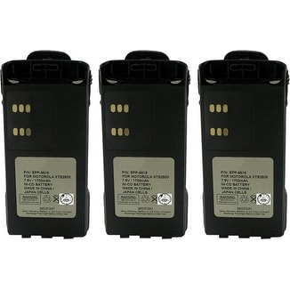 New Replacement Battery For MOTOROLA NTN9815 / EPP-9815 2 Way Radio ( 3 Pack )
