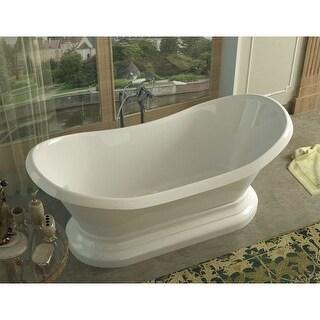 "Avano AV3471RS Basco 70-3/4"" Acrylic Soaking Bathtub for Freestanding Installations with Rear Drain"