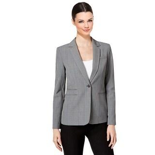 Calvin Klein Petite Plaid One Button Blazer Jacket - 6P
