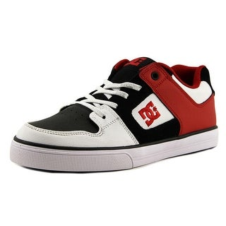 DC Shoes Pure Elastic Youth  Round Toe Leather  Skate Shoe