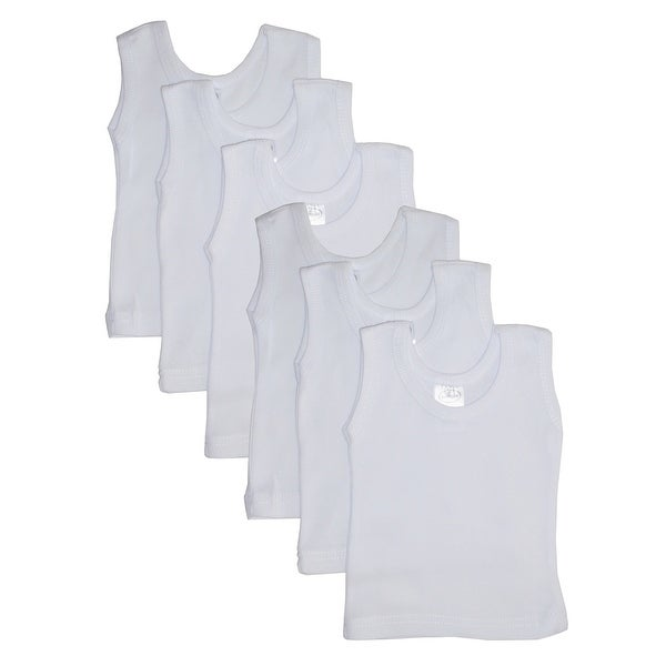 Bambini White Tank Top 6 Pack - Size - Medium - Unisex