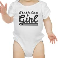 Birthday Girl White Bodysuit Cotton Cute 1st Birthday Baby Girl Gift