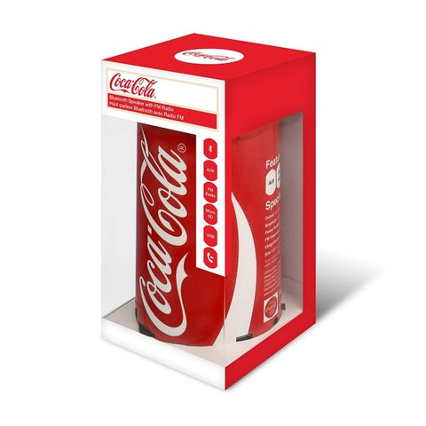Coca-Cola Can Bluetooth Speaker with FM Radio, Micro SD Card, USB Cable and AUX Input, USB And Audio Cord Included