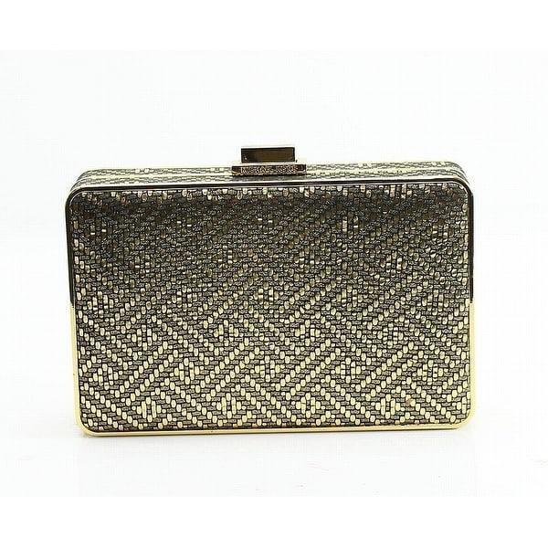 Shop Michael Kors Gold Geo Embossed Pearl Box Clutch Crossbody Purse ... 2e0c355a1d73