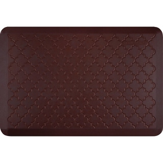 "WellnessMats Estates Trellis Anti-Fatigue Office, Bathroom, & Kitchen Mat, Coconut, 36"" by 24"""