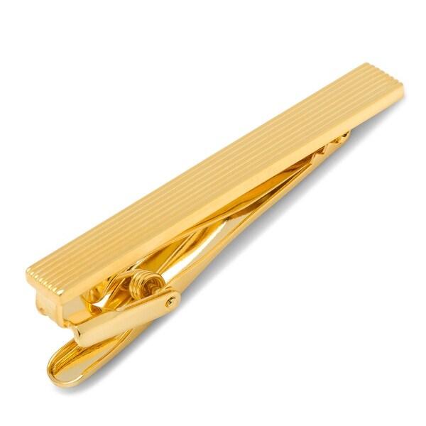 Gold Pinstripe Tie Clip