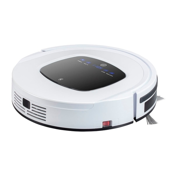 Monoprice MP Intelligent High Suction, Self-Docking, Self-Charging Robotic Vacuum Cleaner with Drop-Sensing Technology a