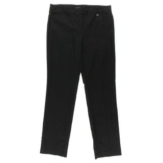 Jones New York Womens Claire Slimming Straight Leg Dress Pants