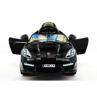 Moderno Kids Kiddie Roadster 12V Kids Electric Ride-On Car with R/C Parental Remote - Black