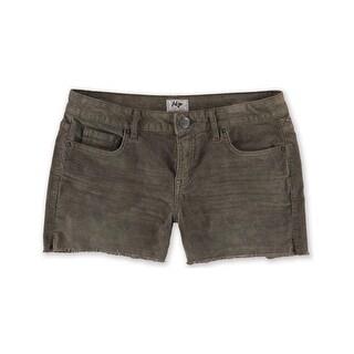 Aeropostale Womens Midi Casual Corduroy Shorts, brown, 000 Size
