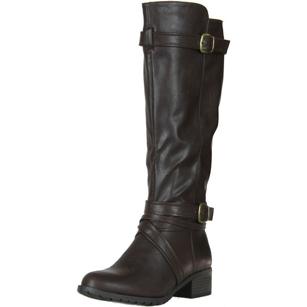Rampage Women's Faction Riding Boot - Brown