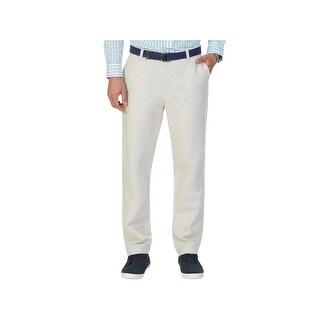 Nautica Mens Casual Pants Linen Flat Front