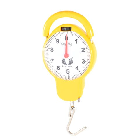 Unique Bargains Yellow Handheld Portable Balance Spring Scale 10Kg Measuring Tool