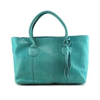 Buco Lulu    Leather  Tote - Blue