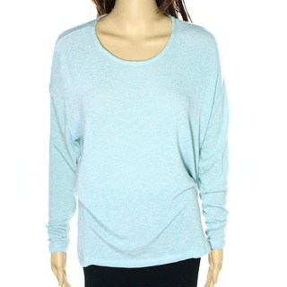 Bobeau NEW Light Blue Womens Size Large L Scoop Neck Knit Sweater