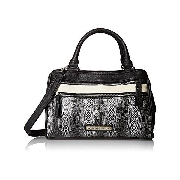 Rosetti Womens Charlotte Shoulder Handbag Faux Leather Python Print - Medium