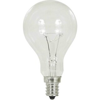 Feit Electric BP60A15C/CL/CF Incandescent Ceiling Fan Light Bulb, 60 Watts, 120 Volt