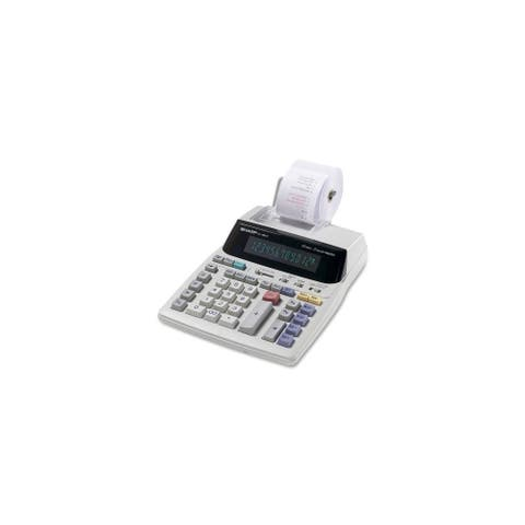 Sharp EL1801VG Sharp EL-1801V Portable 12-Digit 2-Color Serial Printing Calculator