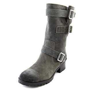Marc Fisher Arianna Women Round Toe Suede Gray Mid Calf Boot