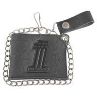 "Harley-Davidson Men's Embossed #1 Logo Short Trucker Wallet, Black XML3829-BLACK - 4.5"" x 3.5"""