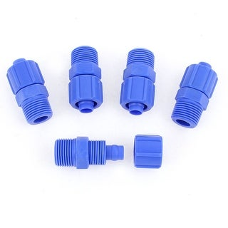 Unique Bargains 5Pcs 3/8BSP Male Air Pneumatic Quick Fitting Straight Connector Coupler 12mm OD