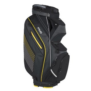 New Ping 2017 Pioneer Golf Cart Bag (Charcoal / Yellow / White) - charcoal / yellow / white