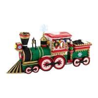 "Department 56 North Pole Series ""Northern Lights Express Engine"" Accessory #4030714 - RED"