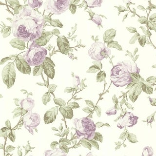 Brewster 344-68700 Wilda Purple Roselle Trail Wallpaper - N/A