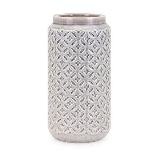 "IMAX Home 10962  Freya 13"" Tall Handcrafted Ceramic Vase - Gray"