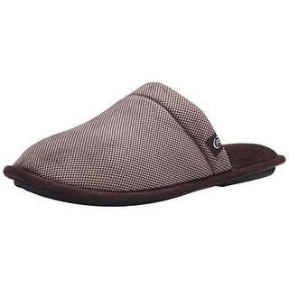 Isotoner Mens Check Cord Thinsulate Memory Foam Clog Slippers
