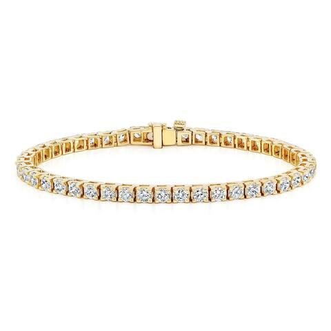 Auriya 1 3/4ctw Round Diamond Tennis Bracelet 14k Gold - 6-inch