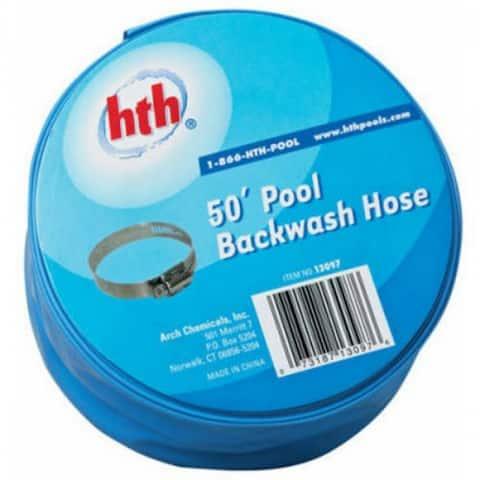 "HTH 4066 Pool Backwash Hose for Filter Cleaning, 1-1/2"" x 50'"