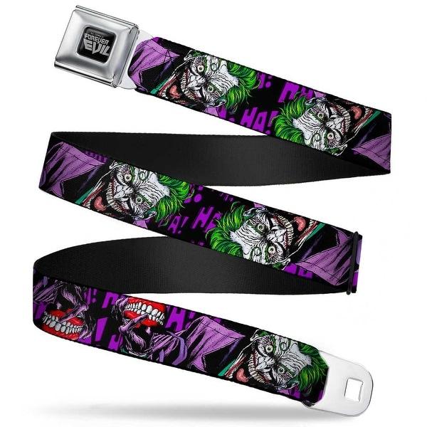 Dc Comics Forever Evil Full Color Black Gray Joker Holding Teeth Issue 23.1 Seatbelt Belt