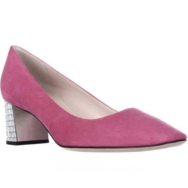 Kate Spade Danika Too Studded Block Heel Dress Pumps, Pink Swirl