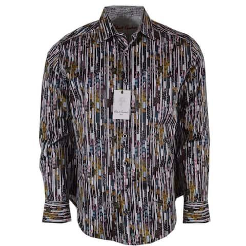 NEW Robert Graham LILES Abstract Geometric Striped Sports Shirt