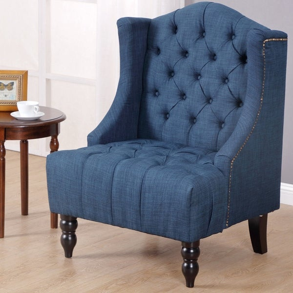 Fine Shop Costway Modern Tall Wingback Tufted Accent Armchair Download Free Architecture Designs Scobabritishbridgeorg