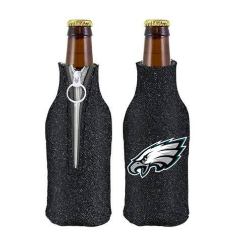 Philadelphia Eagles Bottle Suit Holder Glitter Black - 12oz