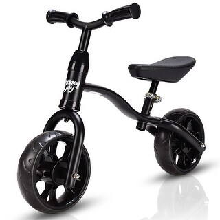 Costway Adjustable Children Kids Balance Bike Pre-bicycle No-Pedal Learn to Ride Black