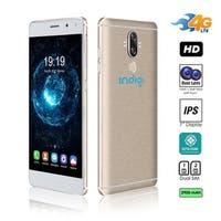Indigi GSM Unlocked 4G LTE 6-inch Smartphone (Android 7.0 Nougat OS + 2SIM + Octa-Core @ 1.3ghz + Fingerprint Scanner) (Gold)