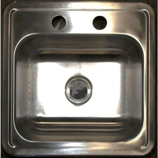 "Artisan D1501D6 15"" Drop In Single Basin 20 Gauge Stainless Steel Bar Sink from the Dakota Collection - Stainless Steel"