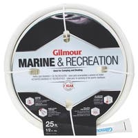 "Gilmour 12-12025 5 Ply Marine & Recreation Hose, 1/2"" x 25', White"