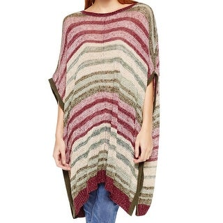 Two By Vince Camuto NEW Purple Combo Women's Size S/M Knit Poncho