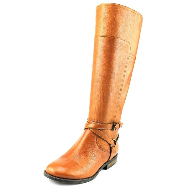 Marc Fisher Alexis Round Toe Leather Knee High Boot