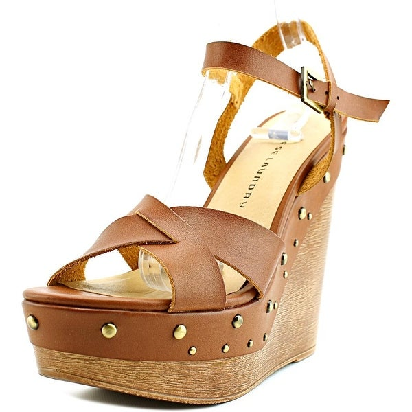 Chinese Laundry Z-Jala Women Open Toe Synthetic Brown Wedge Sandal