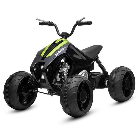 Kidzone Kids Ride On ATV, 12V Battery 45W Electric Vehicle, 7 Colors - standard