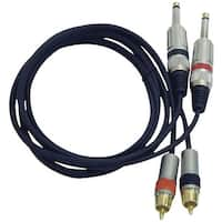 PYLE PRO PPRCJ05 Dual RCA Audio Cable, 5ft