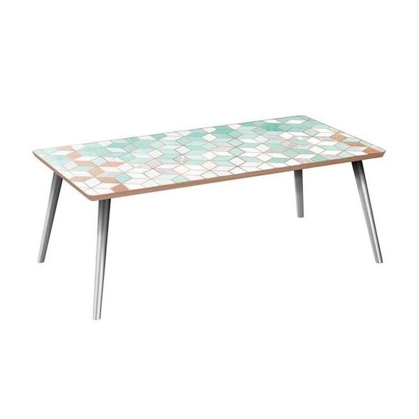 Deco Chrome Coffee Table: Shop Brixton Flare Coffee Table, Mint & Copper Deco