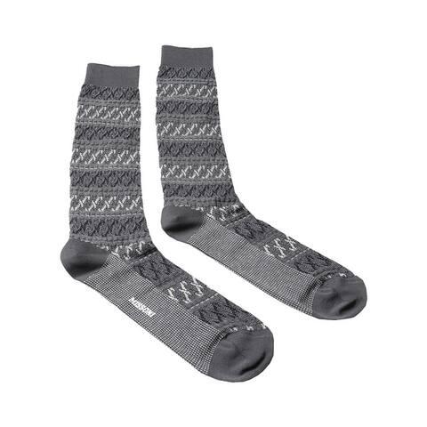Missoni GM00CMU5243 0006 Gray/White Knee Length Socks