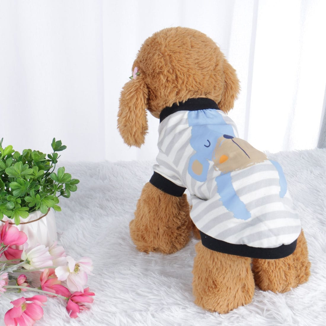 Dog T Shirt Puppy Small Pet Cat Sweatshirt Tops Clothes Apparel Vest Clothing (Blue - XL)